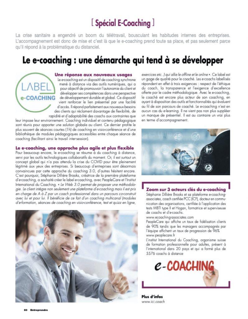 article sur le e-coaching